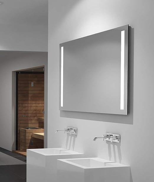 Turefans Espejo de Ba/ño para Tocador y Espejo Espejo de Ba/ño con Iluminaci/ón LED//Espejo de Pared Grande//Espejo de Luz//Espejo Ba/ño 100 /× 60CM 23W 6000K