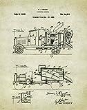 Concrete Cement Mixer Truck Patent Poster Art Print 11X14 Wall Decor Picture Vintage Road Construction Heavy Equipment -  Apple Creek