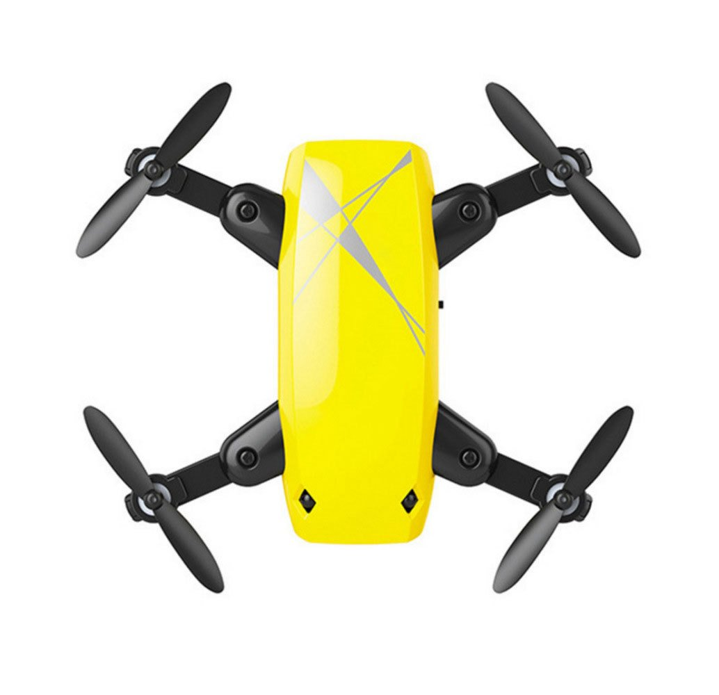 Yellow KYOKIM Remote And Mobile Phone APP Control Drone Synchronous Transmission Aerial Photography,984cm Flight Time 5 Minutes And Remote Control Distance 50 Meters,Yellow