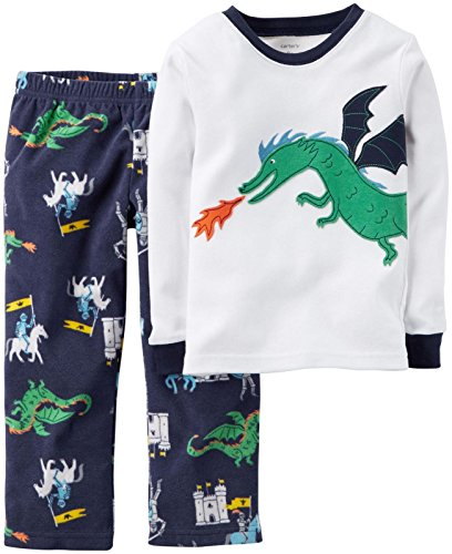 Carter's Baby Girls' 2 Piece PJ Set (Baby) - Dragon - 24 (Dragon Baby Clothes)