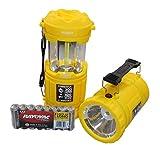 NEBO Tools - 6555 Poppy 300 Lumen Combination LED Lantern and Spot Light w/ 8 X Rayovac AA Batteries, Yellow