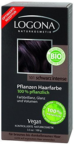 Logona Natural Herbal Botanical Hair Color Intense Black 3.5 Ounce by Logona
