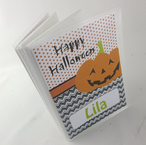 Halloween Photo Album #IA193 4x6 or 5x7 Picture Happy Halloween Holiday Jack O Lantern Pumpkin Brag Book