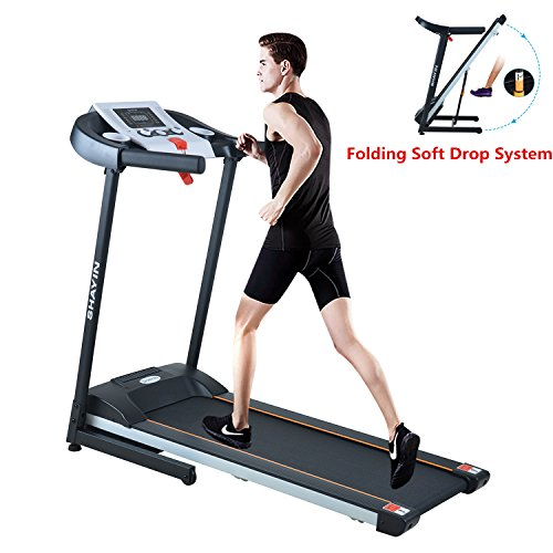 Progress Lowering Springs - Shayin Treadmills Folding Electric Treadmill Auto Power Incline Running Exercise Machine for Home Gym Exercise Fitness Fold Up