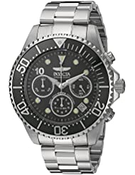 Invicta Mens Pro Diver Quartz Stainless Steel Diving Watch, Color:Silver-Toned (Model: 22035)