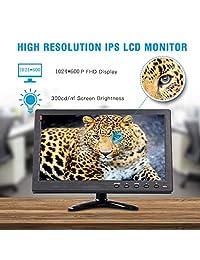 10.1 Pulgadas Monitores de seguridad portátiles Pantallas HDMI YUZES 1024 x 600 Resolución TFT LCD Pantalla de video con VAG AV USB BNC Control remoto de entrada para PC Mini cámara de TV portátil Laptop IPS Monitor barato