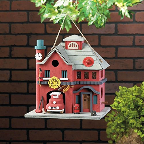 Review Wooden Bird Houses, Red