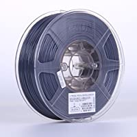 eSUN 3D 1.75mm Solid Gray PETG 3D Printer Filament 1KG Spool (2.2lbs), 1.75mm Solid Opaque Gray by ESUN