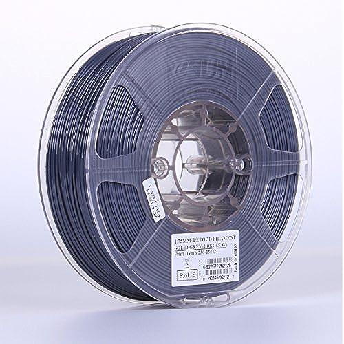 Cheap eSUN 3D 1.75mm Solid Gray PETG 3D Printer Filament 1KG Spool (2.2lbs), 1.75mm Solid Opaque Gray for cheap