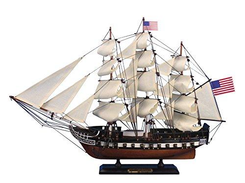 - Hampton Nautical Wooden USS Constitution Tall Model Ship, 24