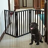 PETMAKER-Freestanding-Wooden-Pet-Gate-Mahogany