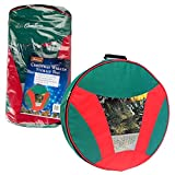 Camerons Products Christmas Wreath Storage Bag with Handles - Water and Tear Resistant, Heavy Duty Woven Construction - (24'' x 6'')