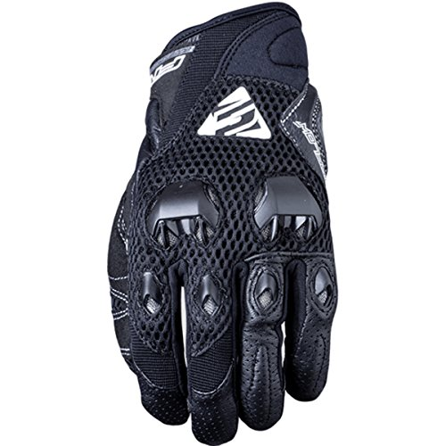 Five Stunt Evo Airflow Textile Adult Street Motorcycle Gloves - Black