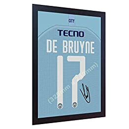 Maillot de Football Kevin De Bruyne Man City avec autographe