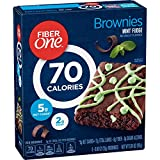 Fiber One 90 Calorie Soft-Baked Bars Mint Fudge Brownie, 6 Bars, 5.34 oz.