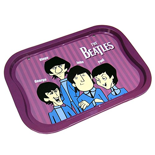 The Beatles Collectible: 2005 Vandor Decorative Animated Serving Tin Tray from Beatles