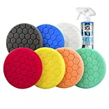 6 inch polish pads - Chemical Guys BUF_HEXKITS_8 Hex-Logic Buffing Pad Kit (6.5 Inch) (8 Items)