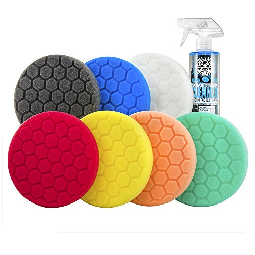 Chemical Guys BUF_HEXKITS_8 Hex-Logic Buffing Pad Kit (6.5 Inch) (8 Items) (Best Da Polishing Pads)