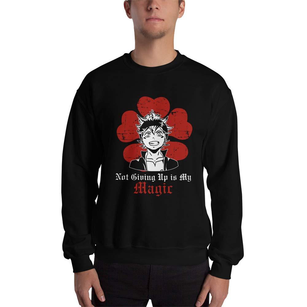 Asta Black Clover Anime Not Giving Up is My Magic Men Women Unisex Sweatshirt