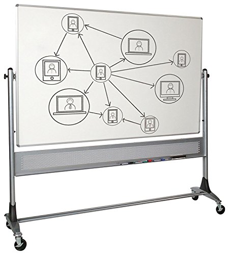 Platinum Mobile Reversible Whiteboard Easel, Dura-Rite HPL Markerboard Surface (669RG-HH) 4 x 6 Feet Panel Size by Best-Rite