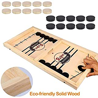 Fast Sling Puck Game Paced,Tinfence Table Desktop Battle,Winner Board Games Toys for Adults Parent-Child Interactive Chess Toy Board Table Game (22.7 in x 12.5 in)