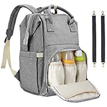 Diaper Bag Backpack, Sensyne Multi-Function Waterproof Maternity Baby Nursing Nappy Back Pack for Boy/Girl on Travel, Large & Stylish & Durable (Upgraded Extensible Storage)