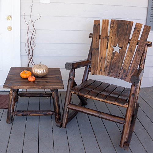 Amazon.com : Char Log Single Rocker With Star : Patio Rocking Chairs :  Garden U0026 Outdoor
