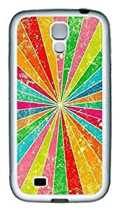 Galaxy S4 Case, Personalized Custom Protective Soft Rubber TPU White Edge Colorful Bground Case Cover for Samsung Galaxy S4 I9500