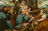 Oil Painting 'Bonifazio Di Pitati - The Madonna And Child With Saints,about 1530', 10 x 15 inch / 25 x 38 cm , on High Definition HD canvas prints, Dining Room, Game Room And Study Room Decoration