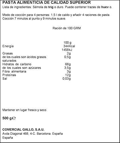 Gallo Fideua Paquete, 450g