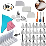 Best Tools For Cakes - 55 PCS Cake Decorating Tools Set. Icing Tips-Piping Review
