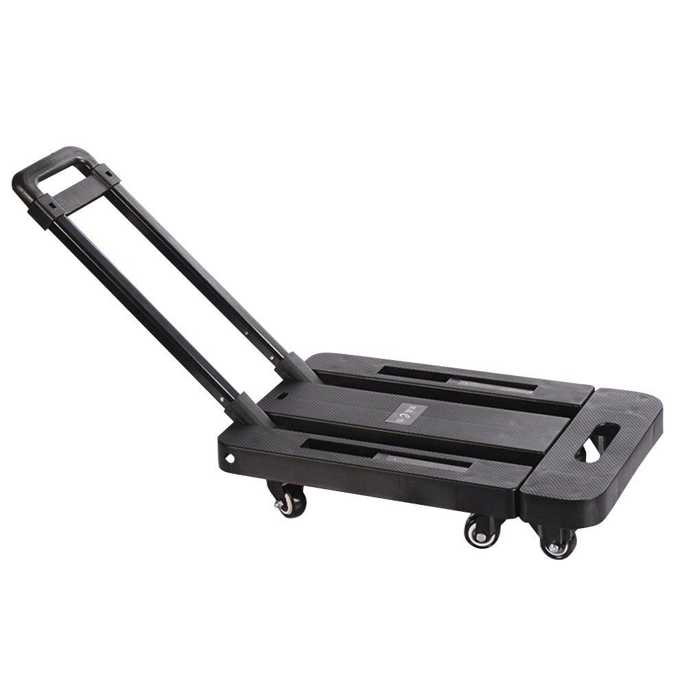 Boshen 440lb Heavy Duty Luggage Cart Dolly Folding Platform Moving Warehouse Push Hand Truck, 18.50''x11.81''x3.54'' Folded Size by Boshen