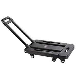 "Boshen 440lb Heavy Duty Luggage Cart Dolly Folding Platform Moving Warehouse Push Hand Truck, 18.50""x11.81""x3.54"" Folded Size"