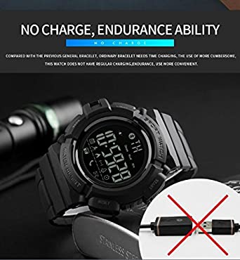 Amazon.com: Mastop Smart Watch Men Outdoor Chronograph Sports Pedometer Calories Fashion Waterproof Digital Watches: Watches