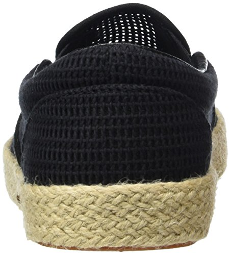 on black Unisex Zapatillas Espadrille Vans mesh Adulto Slip Classic Negro zvPqWn6E