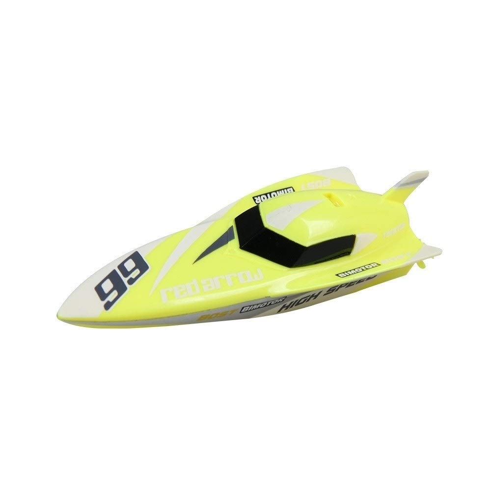 Woote Remote Control Boat Toy,Summer Outdoor Water Toys Remote Controlled RC Boats for Kids Or Adults, Self Righting High Speed Boat Toys for Boys Or Girls ( Color : Yellow )
