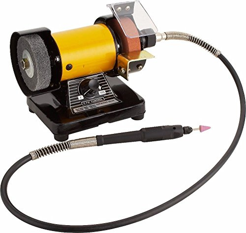 TOPCHANCES 220V Mini Bench Grinder and Polisher w Flexible Shaft Tool Rest and Safety Guard by TOPCHANCES