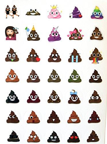 Lifetime Inc Poop Emoji Sticker Sheet Party Favor 24 Pack (840 Stickers), Poo Set. Potty Training, Journal, Favors, Office, Teachers, Scrapbooking