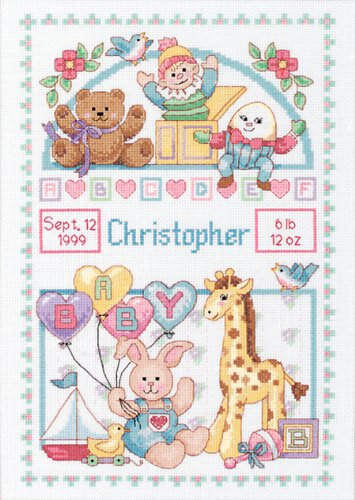 Dimensions Needlecrafts Counted Cross Stitch, Birth Record for Baby Birth Record