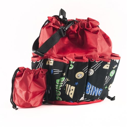 Bingo Bag - Space Ball Design - Red