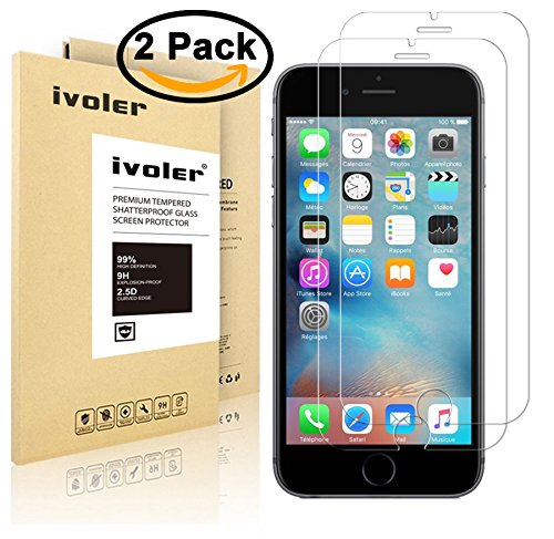 [2 Pack] iVoler for iPhone 6 / 6S [3D Touch Compatible -...