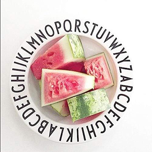 Teabelle Lettres Assiettes Snacks Fruits Plaque de Lettres de l'alphabet Kid Mélamine bébé Fedding dîner Vaisselle Enfants Plats