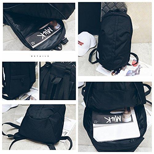 Hohe Kapazität leichte Männer und Frauen Leinwand Student Tasche einfach und vielseitig Mode wasserdicht leichte Outdoor-Reisen Sporttasche ( Color : Schwarz ) Schwarz Q9dCV7Xc81