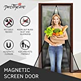"Magnetic Screen Door ( Reinforced Mesh and Extra Gravity Sticks By PrettyCare ) with Full Frame Velcro, Fits Door up to 36""x83"", Pet and toddle Friendly, Keep All Bugs , Mosquitoes Out"