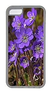 Durable Mobile Phone Protection Shell The Beautiful Purple FlowerCases For iPhone 5C - Summer Unique Wholesale 5c Cases Transparent Soft Edge Case