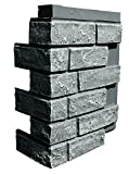 NextStone Faux Polyurethane Brick Outside Corner - Antique Gray - 4 Pack