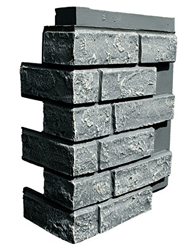 NextStone Faux Polyurethane Brick Outside Corner - Antique Gray - 4 Pack by NextStone