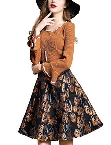 fall applique dress - 6