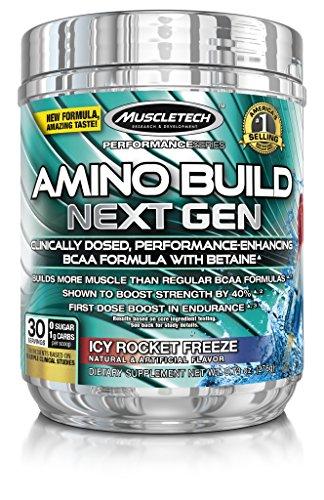 MuscleTech Build Amino prochaine génération supplément, glacée Rocket gel, 276 grammes