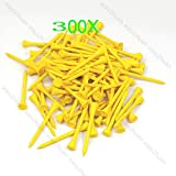 New 300pcs Yellow 70mm Golf Ball Wood Tee wooden Tees Outdoor sports Brand